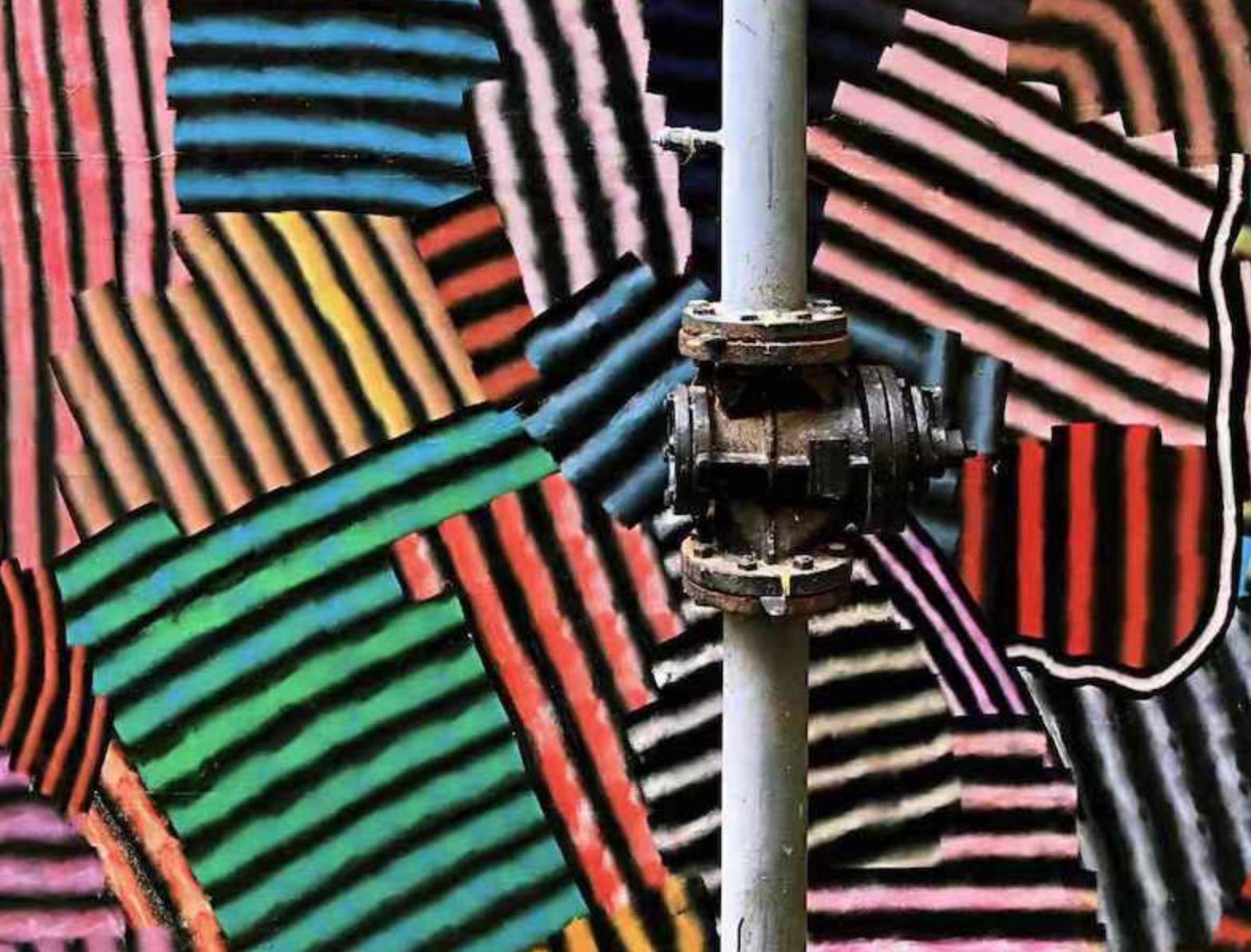 李慕华 丙烯 墙绘作品,尺寸可变(细节) 2019
